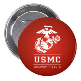 USMC Semper Fidelis [Semper Fi] 3 Inch Round Button
