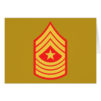 USMC SgtMaj Sergeant Major E-9 Card