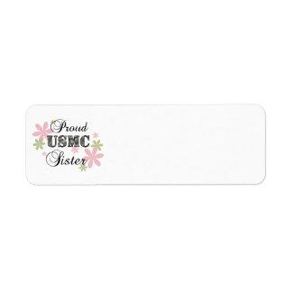 USMC Sister [fl camo] Return Address Label