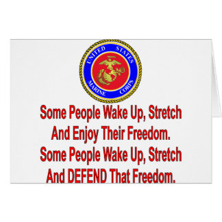 USMC Some People Defend That Freedom Card