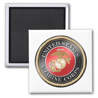USMC Square Magnet