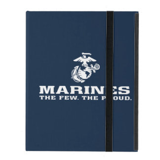 USMC The Few The Proud Logo Stacked - White iPad Case