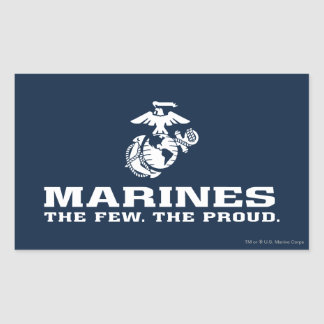USMC The Few The Proud Logo Stacked - White Sticker