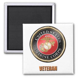 USMC Veteran Square Magnet