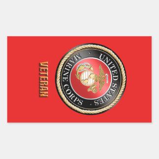 USMC Veteran StickerUSMC, U.S. Marine Corps, woosh Sticker