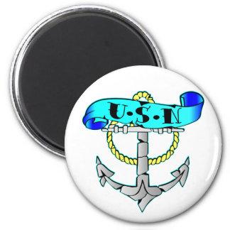USN Anchor Tattoo Magnet