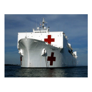 USNS Mercy Hospital Ship Postcard