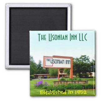 Usonian Inn square magnet -  street sign