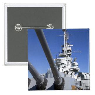 USS Alabama Battleship at Battleship Memorial 2 Inch Square Button