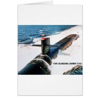 USS ALABAMA CARD