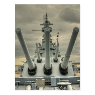 USS Alabama Postcard