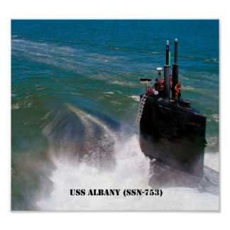 USS ALBANY POSTER