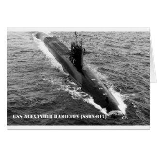 USS ALEXANDER HAMILTON CARD