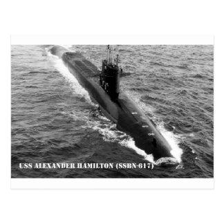 USS ALEXANDER HAMILTON POSTCARD