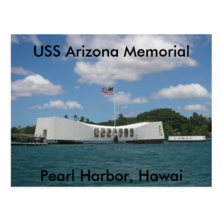 USS Arizona Memorial, Pearl Harbor, Hawai Postcard