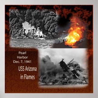 USS Arizona, Pearl Harbor 1941 Poster