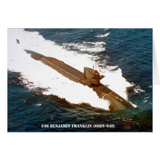 USS BENJAMIN FRANKLIN CARD