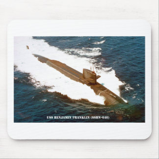 USS BENJAMIN FRANKLIN MOUSE PAD