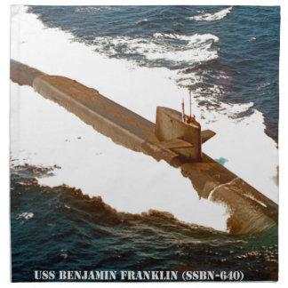 USS BENJAMIN FRANKLIN NAPKIN