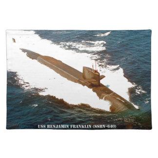 USS BENJAMIN FRANKLIN PLACEMAT