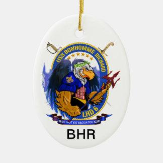 USS Bonhomme Richard LHD-6 living crest Ceramic Ornament
