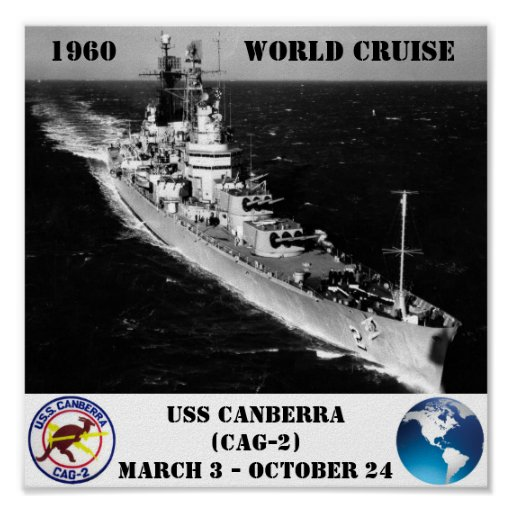 USS CANBERRA (CAG-2) POSTER