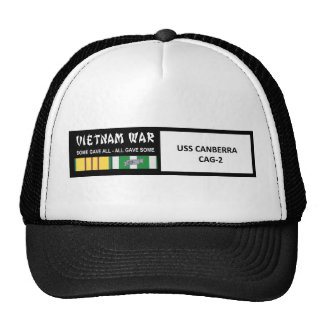 USS CANBERRA VIETNAM WAR VETERAN TRUCKER HATS