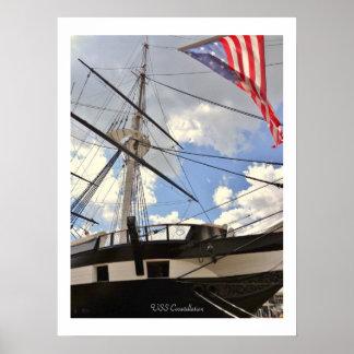 USS Constellation Tall Ship Baltimore Harbor Photo Poster