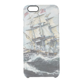 USS Constitution heads for HM Frigate Guerriere Clear iPhone 6/6S Case