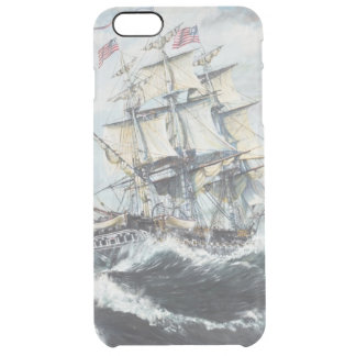 USS Constitution heads for HM Frigate Guerriere Clear iPhone 6 Plus Case