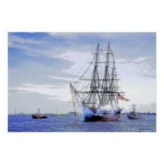 USS Constitution:  Turn-around Cruise Salute Posters