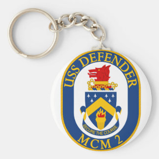 USS Defender - MCM 2 - Secure The Course Basic Round Button Keychain