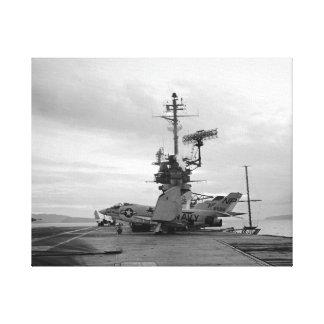 USS Hancock CVA-19 F3-B Demon Fighter Black Lion Canvas Print