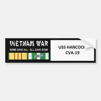USS HANCOCK VIETNAM WAR VETERAN BUMPER STICKER