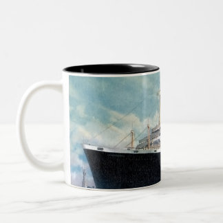 USS Independence & SS Constitution Vintage Two-Tone Coffee Mug