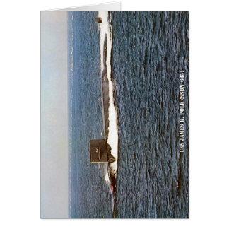 USS JAMES K. POLK CARD