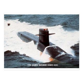 USS JAMES MONROE POSTCARD