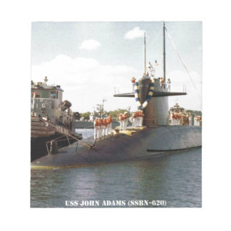 USS JOHN ADAMS NOTEPAD