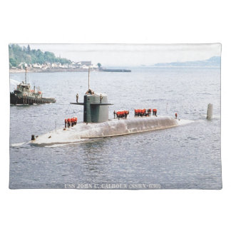 USS JOHN C. CALHOUN PLACEMAT