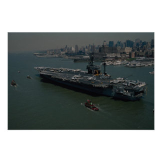 "USS John F. Kennedy"", entering New York's Hudson R Poster"