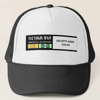 USS KITTY HAWK VIETNAM WAR VETERAN TRUCKER HAT