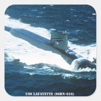 USS LAFAYETTE SQUARE STICKER