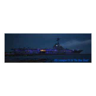 "USS Lexington CV-16 ""The Blue Ghost"" Poster"