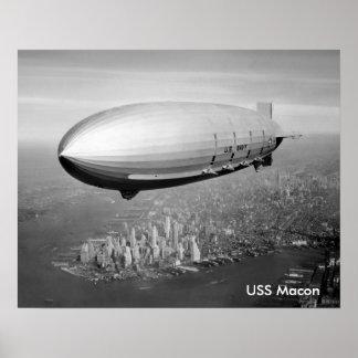 "USS Macon poster 16""x20"""