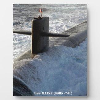 USS MAINE PLAQUE