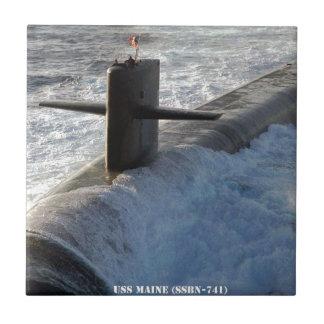 USS MAINE TILE
