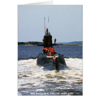 USS MARIANO G. VALLEJO CARD