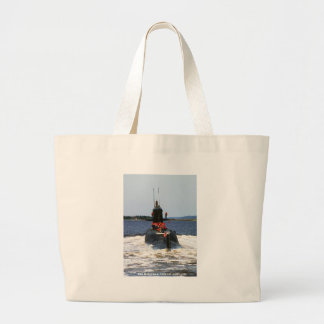 USS MARIANO G. VALLEJO LARGE TOTE BAG