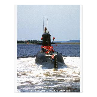 USS MARIANO G. VALLEJO LETTERHEAD