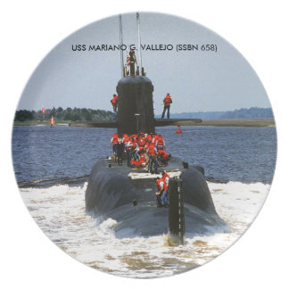 USS MARIANO G. VALLEJO PARTY PLATE
